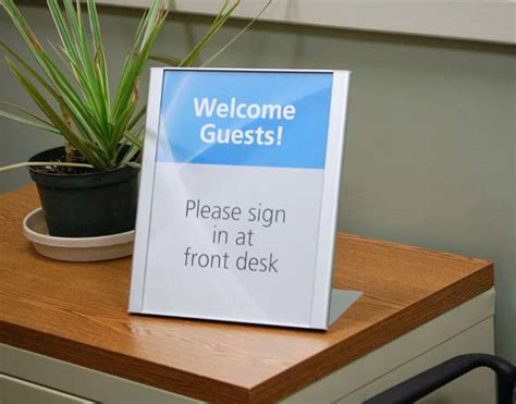 away from desk sign desktop signs reception signs front counter copay signs