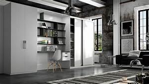 bureau salon un bureau discret dans le salon un coin With tapis de souris personnalisé avec housse pour canapé d angle sur mesure