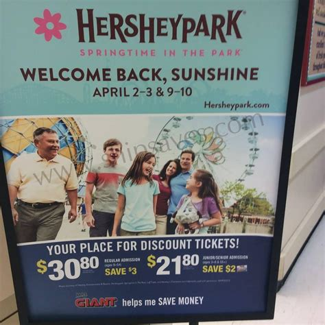 Hershey Park Discount Coupons Giant