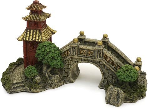 Japanese Garden Decoration by Japanese Garden Bridge 15cm Jmc Aquatics
