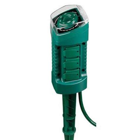 westek 15 in 6 outlet photocell stake timer