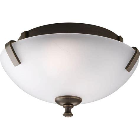 home depot flush mount ceiling light fixtures progress lighting wisten collection 2 light antique bronze