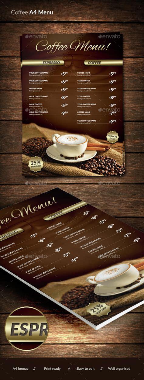 Coffee menu design can be a headache and time consuming for those with no coffee experiences. 15+ Free and Premium Restaurant Menu Templates - Webprecis