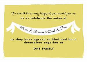 steal this invitation wording for your own blended family With wedding invitations wording for blended families