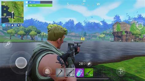 fortnite mobile im test  spielt sich der shooter auf