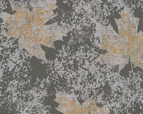 Tapete Gold Grau by Tapete Natur Bl 228 Tter As Creation Grau Silber Gold 32264 3
