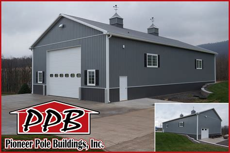 42' W x 80' L x 18' H   Garage by Pioneer Pole Buildings