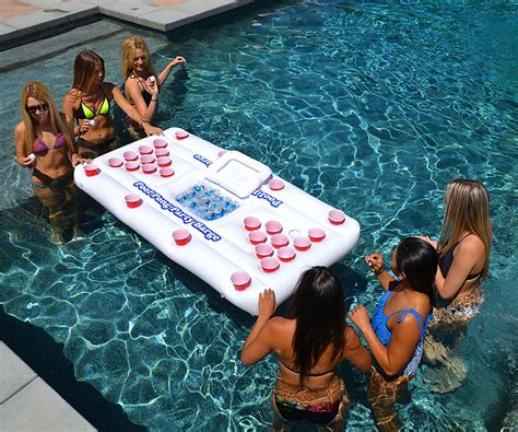 pool table stores on long island floating beer pong table inflatable float raft island