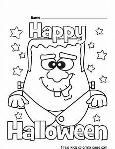 happy halloween coloring pages printable - halloween happy monster coloring pages for kidsfree