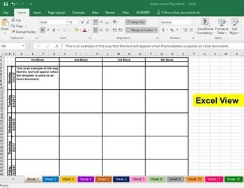 Digital Excel Google Sheets Lesson Plan Book Template by ...
