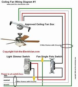 Ceiling Fan Wiring Diagram 1 Electrical Circuitry Pinterest