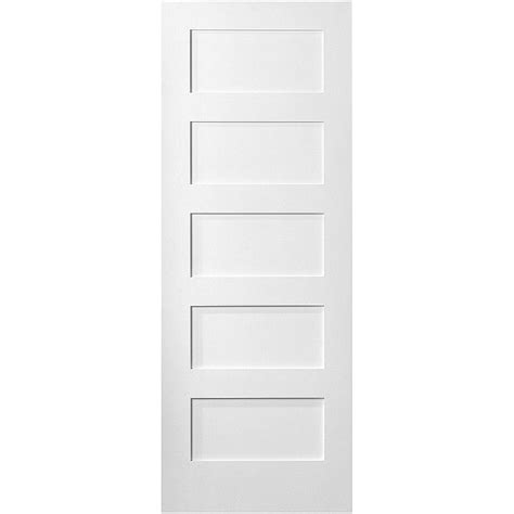 interior doors home depot masonite 36 in x 80 in mdf series smooth 5 panel equal