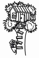 Climb Coloring Treehouse Dog Colorluna sketch template