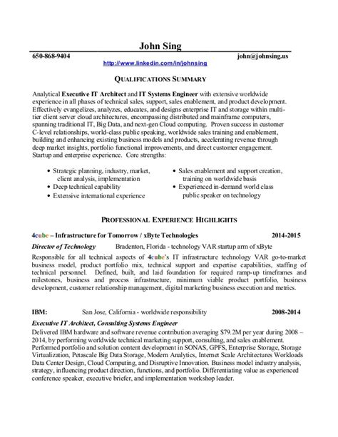 Pre Sales Executive Resume by Resume Sing 2015 01 29 Executive It Architect Pre
