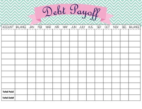monthly bill organizer notebook debt payoff tracker template