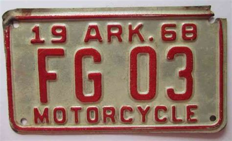 2000 Arkansas Natural State License Plate # 168 Dkt
