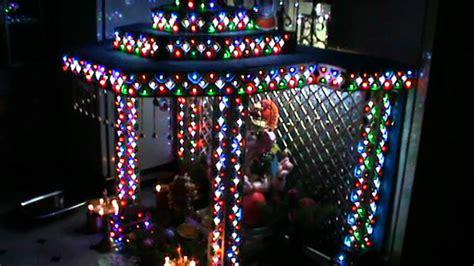 home ganesh decoratoin  led lights rohit yadav