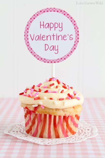 valentine cupcake topper printable  boys girls love
