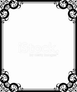 Black Floral Ornament Frame Stock Vector - FreeImages com