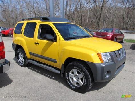 nissan yellow solar yellow 2005 nissan xterra s 4x4 exterior photo