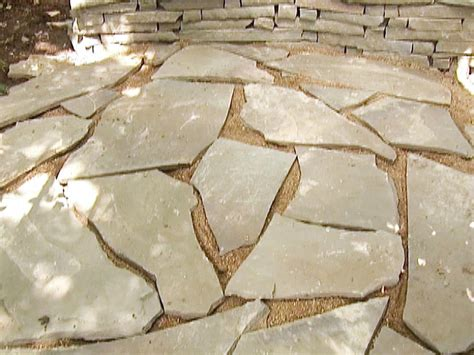 laying a flagstone patio how to build a stone accent wall hgtv