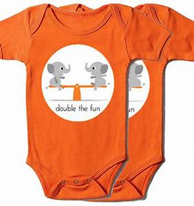 Double the Fun, twin onesies and tees