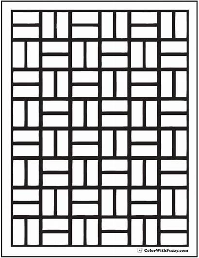 Coloring Pattern Pages Brick Patterns Wall Pdf