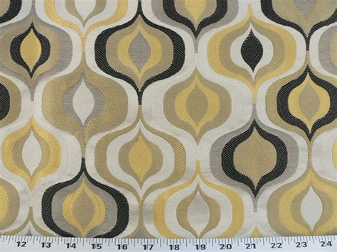 1950s Upholstery Fabric by Drapery Upholstery Fabric Retro Ornamental Geometric