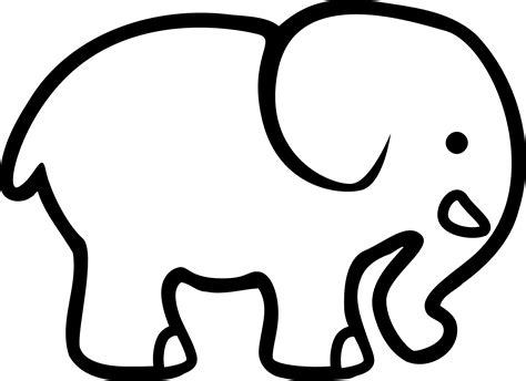 clipart elephant black  white clipart elephant black