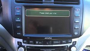2004 Acura Tsx Navigation Issues