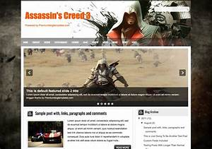 Assassin's Creed 3 Blogger Template 2018 Free Download