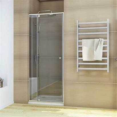 Shower Door Frameless Screen Wall Semi Pivot