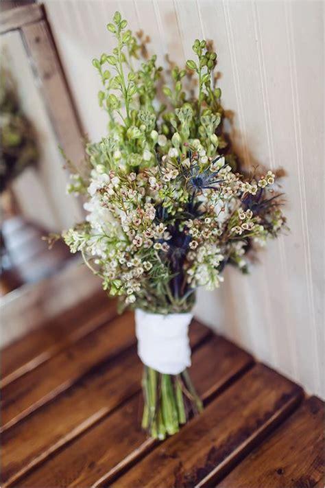 rustic vintage elopement  copper wedding bouquets