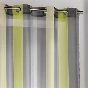 Rideau Voilage Gris : rideau de couleur vert de gris photo ~ Preciouscoupons.com Idées de Décoration