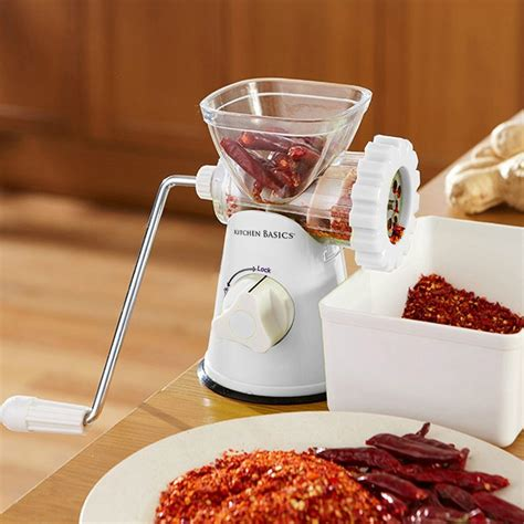 kitchen basics    manual meat  vegetable grinder