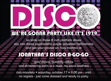 quick view id  disco ball invitation
