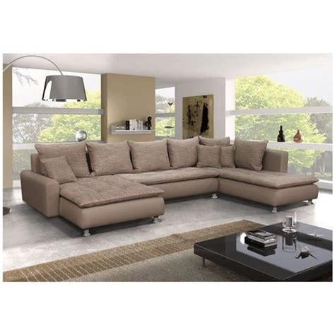grand canapé en u canapé d 39 angle en u taupe angle droit achat vente