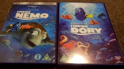 Finding Nemo And Finding Dory (uk) Dvd Unboxing