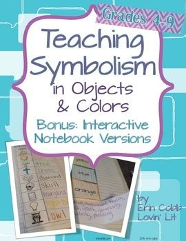 teaching symbolism in literature with objects colors charts w answer