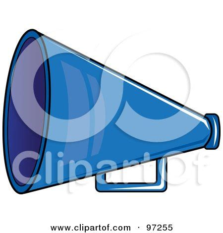 Blue Cheer Megaphone Clipart Royalty Free Rf Illustration Royalty Free Rf Clipart Illustration Of A Blue