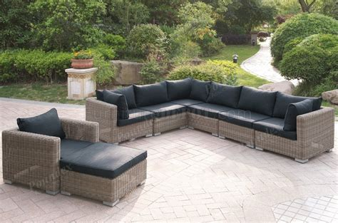 420 outdoor patio 8pc sectional sofa set by poundex w options