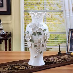 Ceramic, Big, White, Modern, Flowers, Vase, Home, Decor, Large