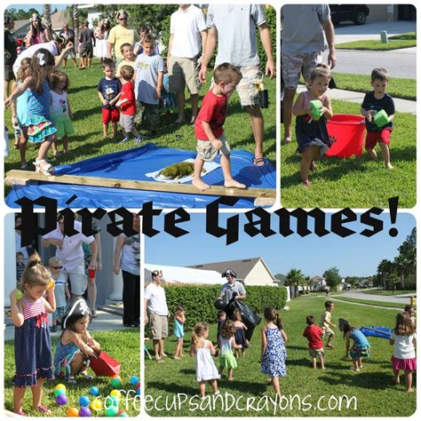 pirate games ideas  pinterest pirate party