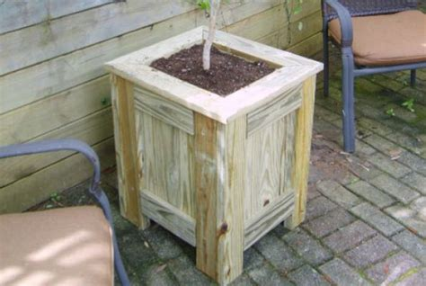 pressure treated planter box plans woodwork city