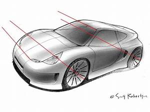 Perspective Drawing Tutorial Car Body Design