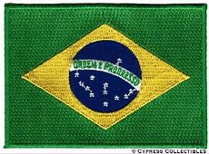 BRAZIL FLAG embroidered ironon PATCH BRASIL RIO SOCCER
