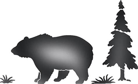 bear silhouette stencil walltowallstencilscom