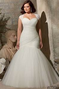 Best wedding dress styles for plus size pluslookeu for Wedding dress cuts