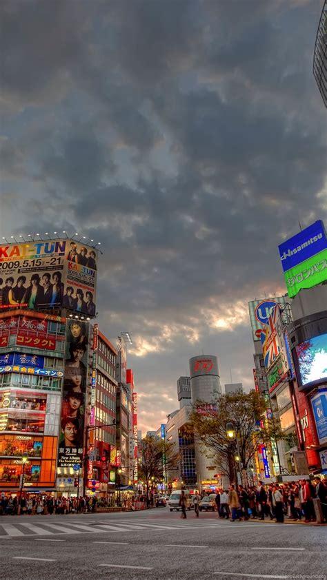 wallpapers city japan sunset shibuya