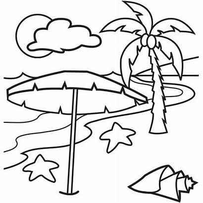 Coloring Pages Beach Tropical Island Printable Hawaiian